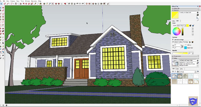 How to use sketchup for making speed modeling of a traditional house
