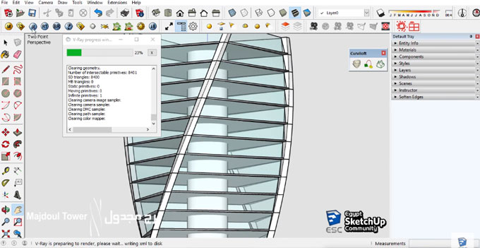 How to use Grow and Curviloft sketchup extension to design the Majdoul Tower