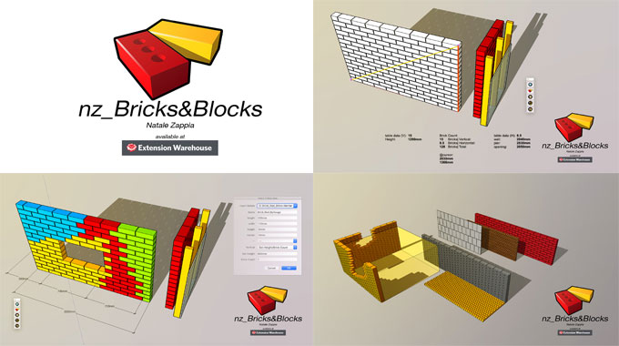 nz_Bricks&Blocks – The newest sketchup extension