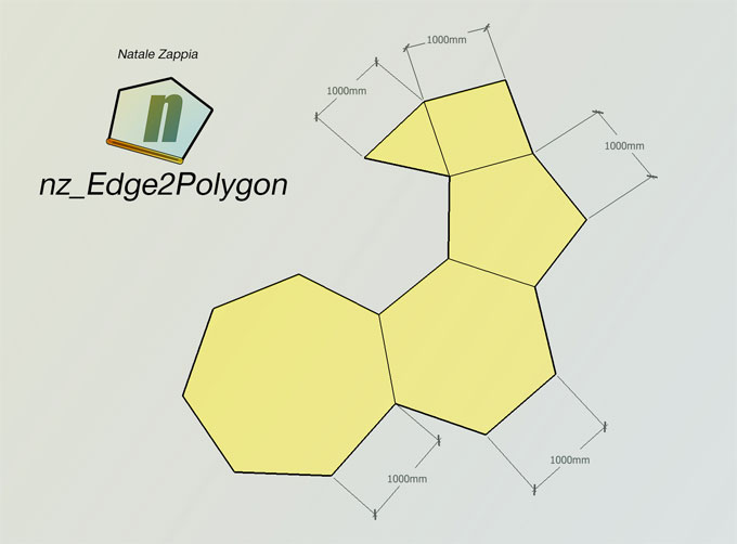 nz_Edge2Polygon – The newest sketchup extension