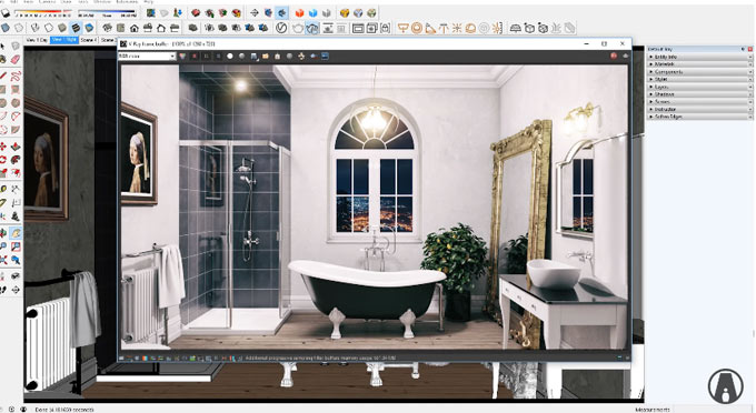 How to apply realistic lighting with vray 3.6 for sketchup