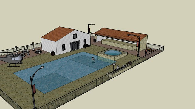 Free DownloadSketchUp Components 3D Warehouse - Pool ... on Sketchup Backyard id=65789