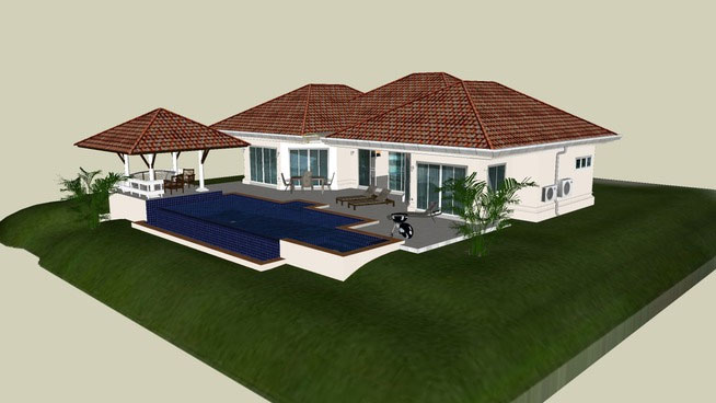 House with swimming pool
