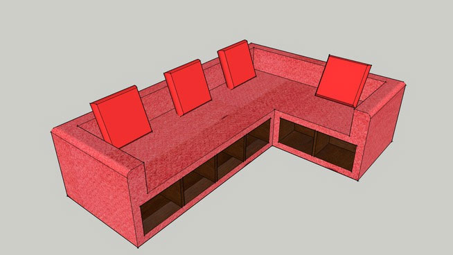 2 seater l shaped sofa bed man cave sofas sketchup components 3d warehouse - | component