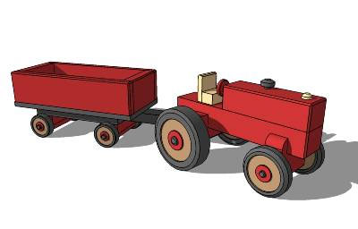 Toy Tractor with Cart
