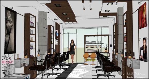 Making of Beauty Salon  SketchUp 3D Rendering Tutorials