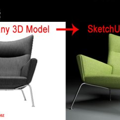 Chair Design Sketchup Where To Buy Covers In Montreal Convert Any 3d Model Using Blender