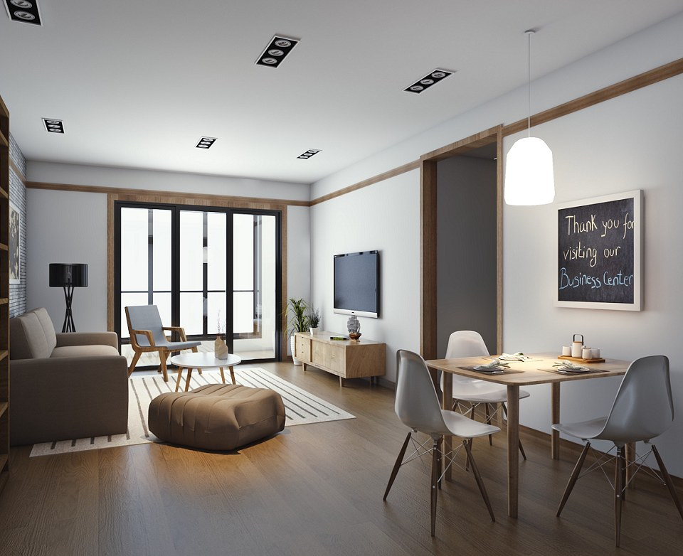 Free 3D Models LOFT APARTMENTS CHINA APARTMENT