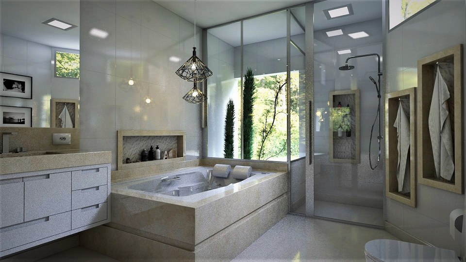 Free 3D Models  BATHROOM  Master Bathroom  by