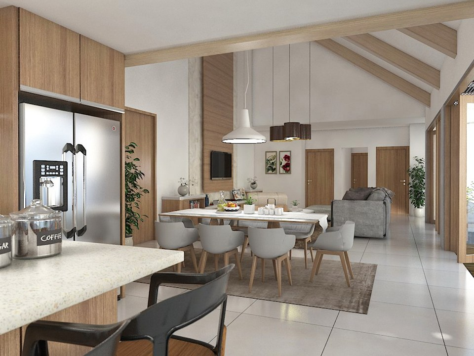 Free 3d Models Dining Room Dining And Living Room By Evita Mulyawati