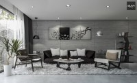Free 3D Models - LIVING ROOM - Modern Concrete Living Room ...