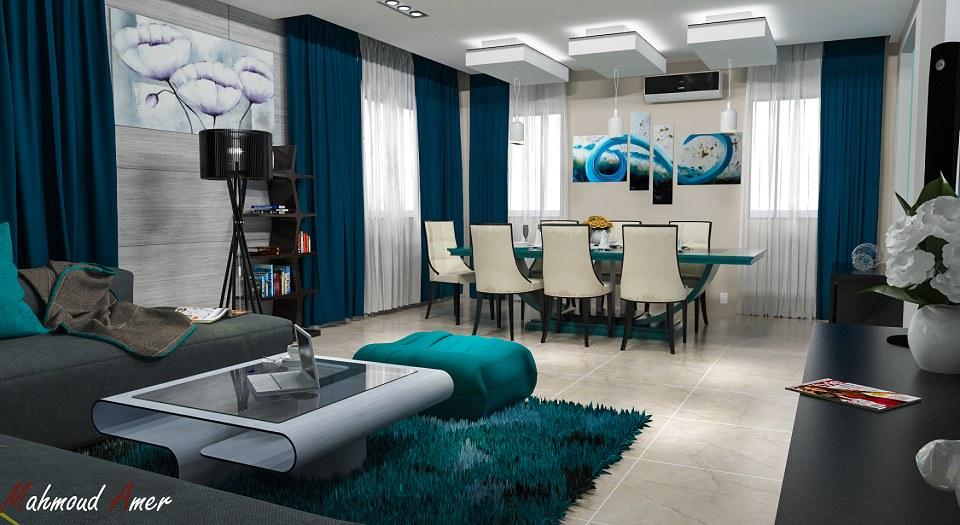 Free 3D Models  LIVING ROOM  MODERN LIVING ROOM 7  by