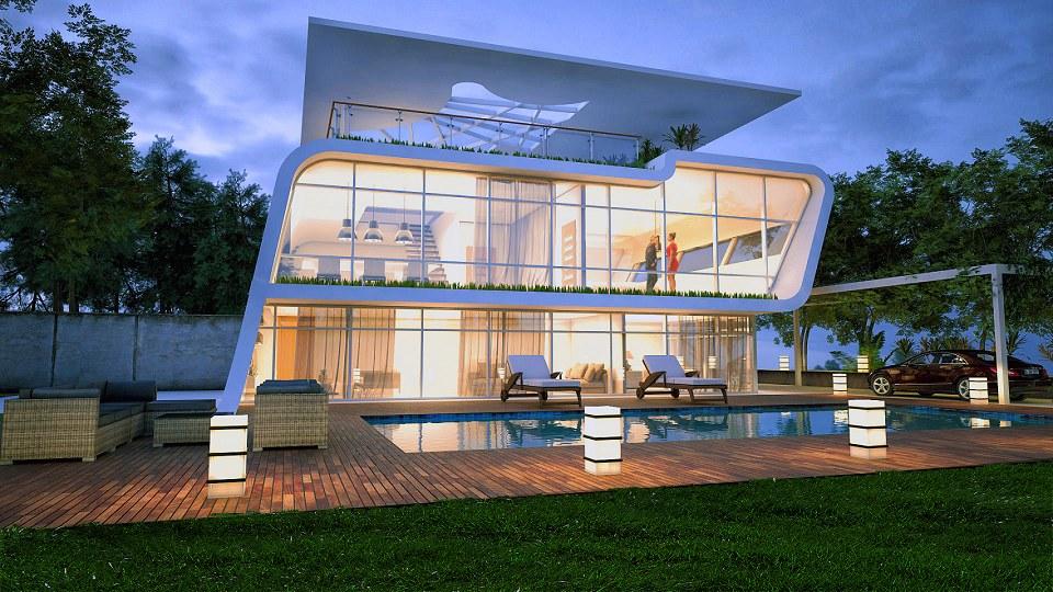Free 3D Models  HOUSES  VILLAS  SMALL MODERN VILLA