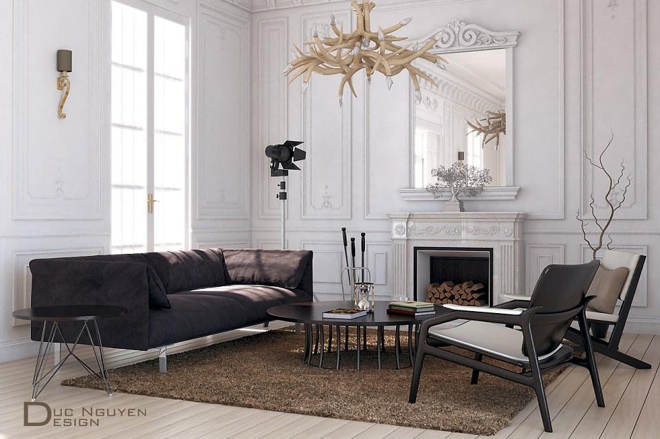Free 3D Models LIVING ROOM MODERN LIVING ROOM