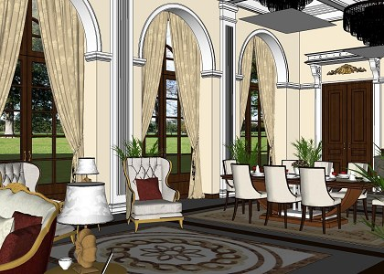 Free 3D Models  LIVING ROOM  Classic Living Room  by