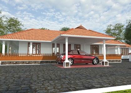 Free 3D Models  HOUSES  VILLAS  Kerala Traditional