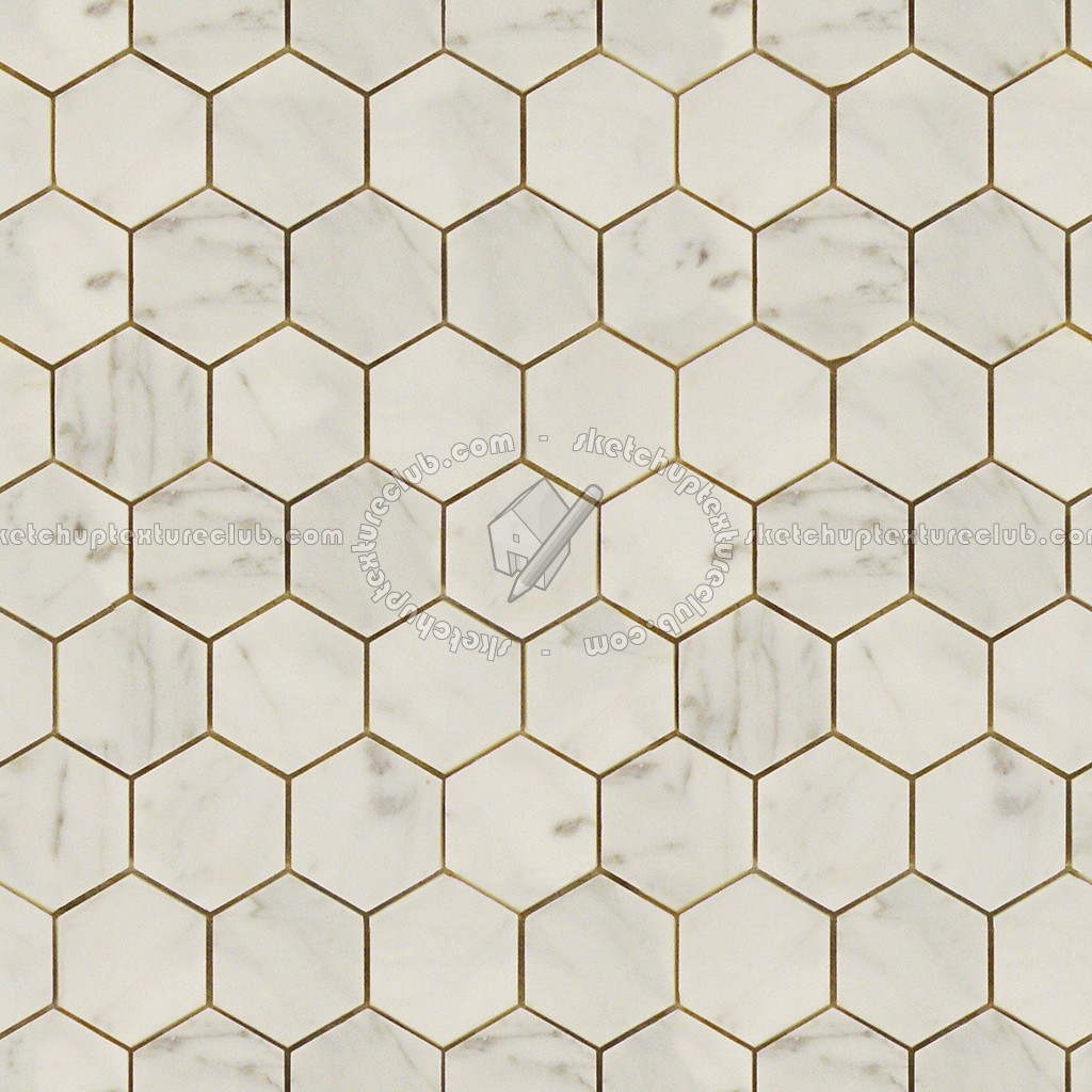 3d Wallpaper Subway Tile White Hexagonal Cream Marble Tile Texture Seamless 14259