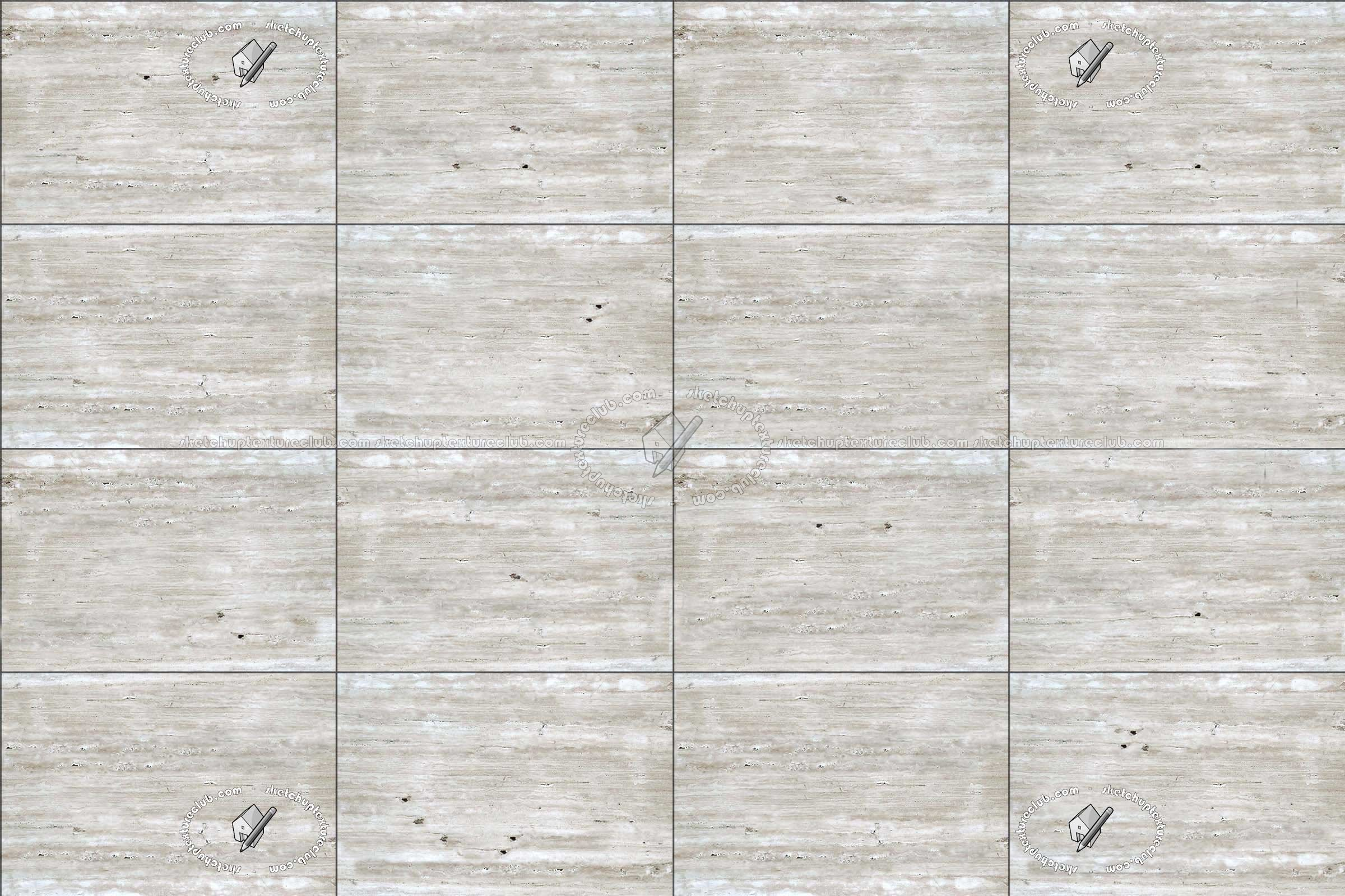Silver Travertine Wall Cladding Texture Seamless