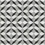 Illusion Black White Marble Floor Tile Texture Seamless 21131
