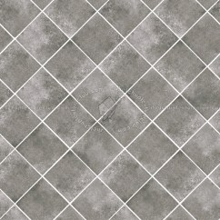 Seamless Kitchen Flooring Stainless Steel Trash Can Checkerboard Cement Floor Tile Texture 13418