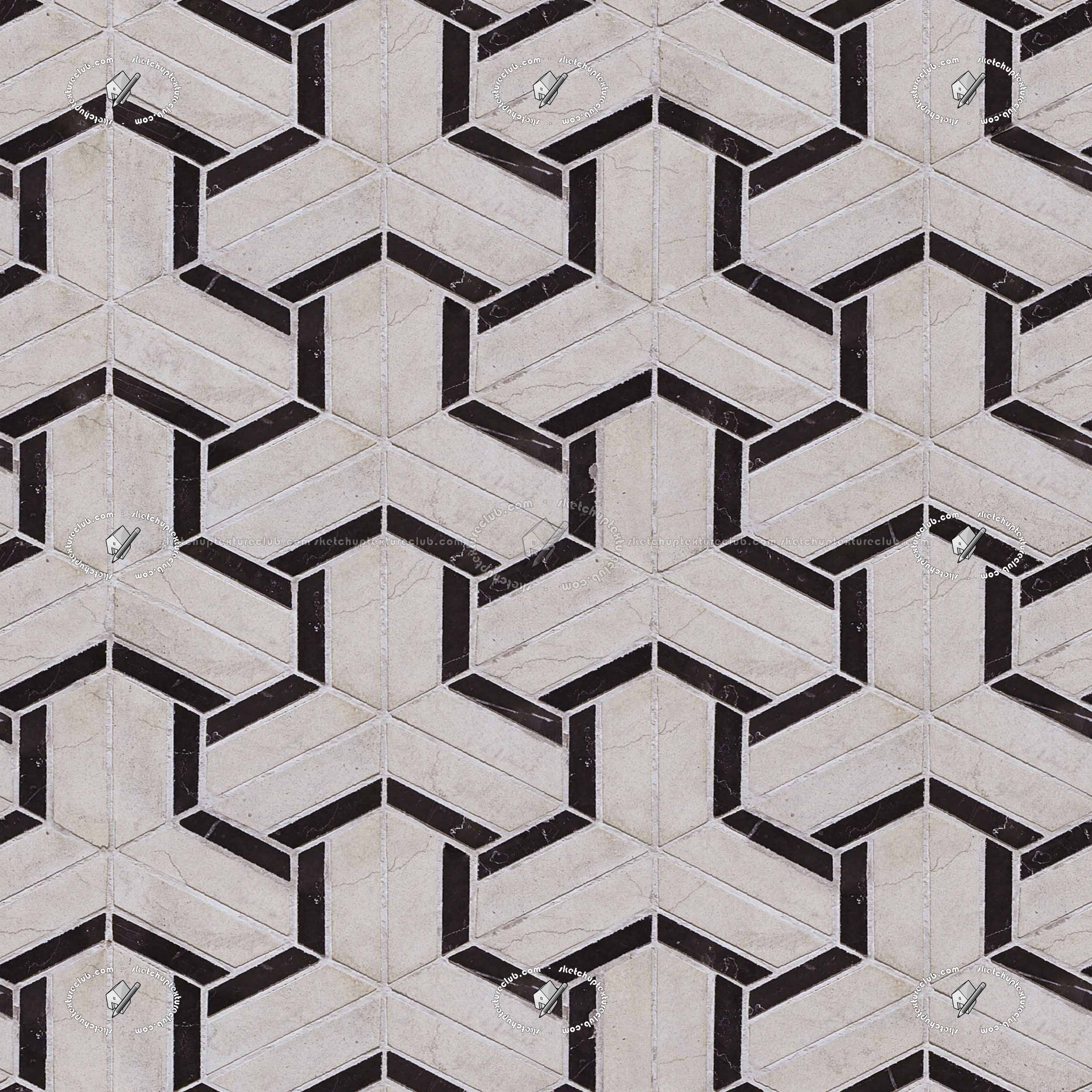 Geometric Marble Tiles Patterns Texture Seamless