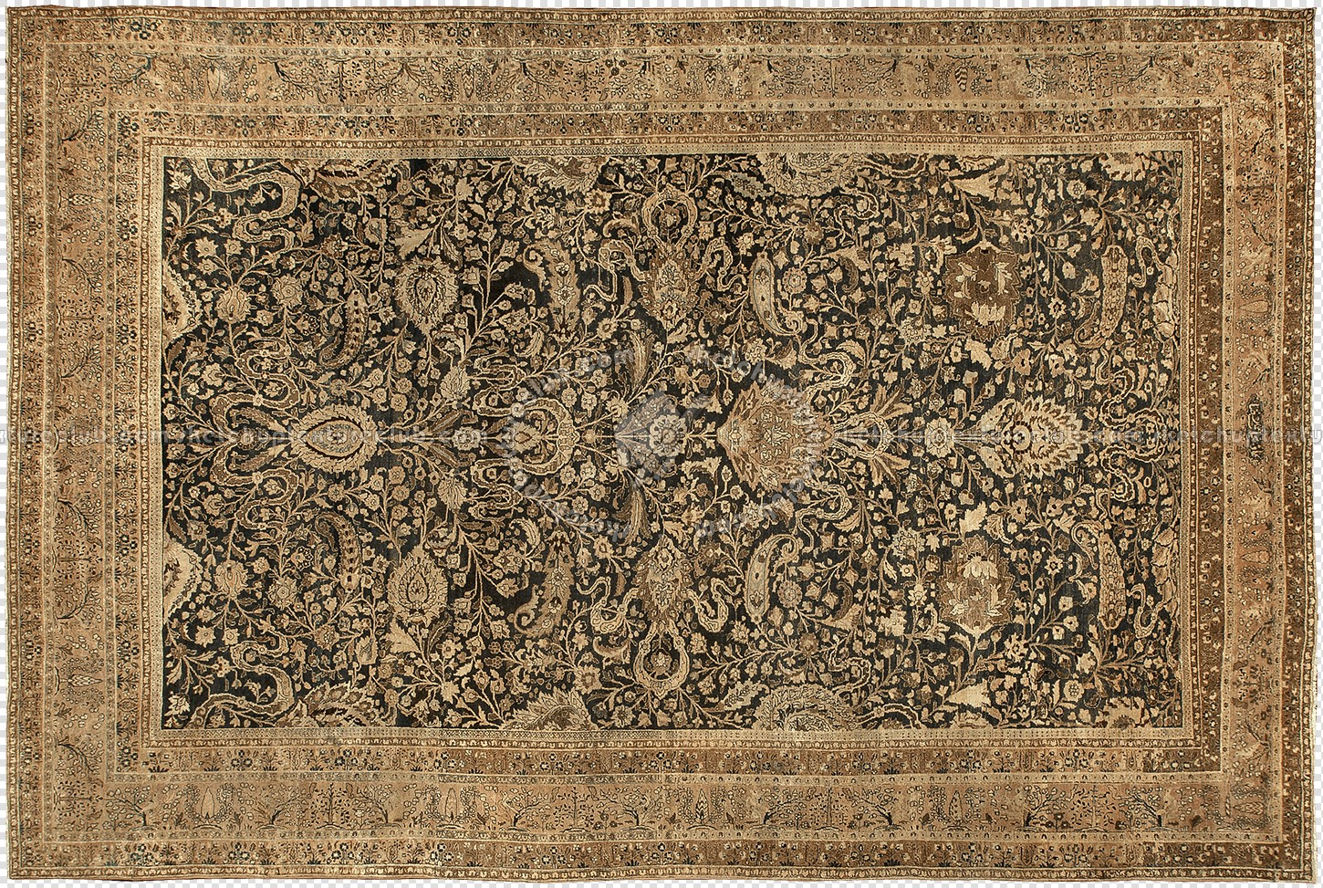 Old cut out persian rug texture 20168