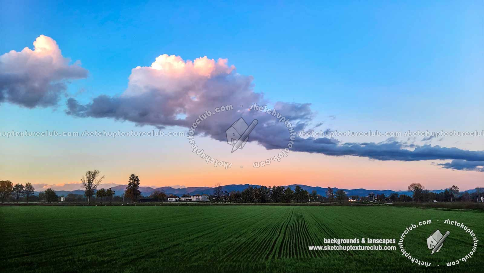 Autumn sunset with countryside background 21016