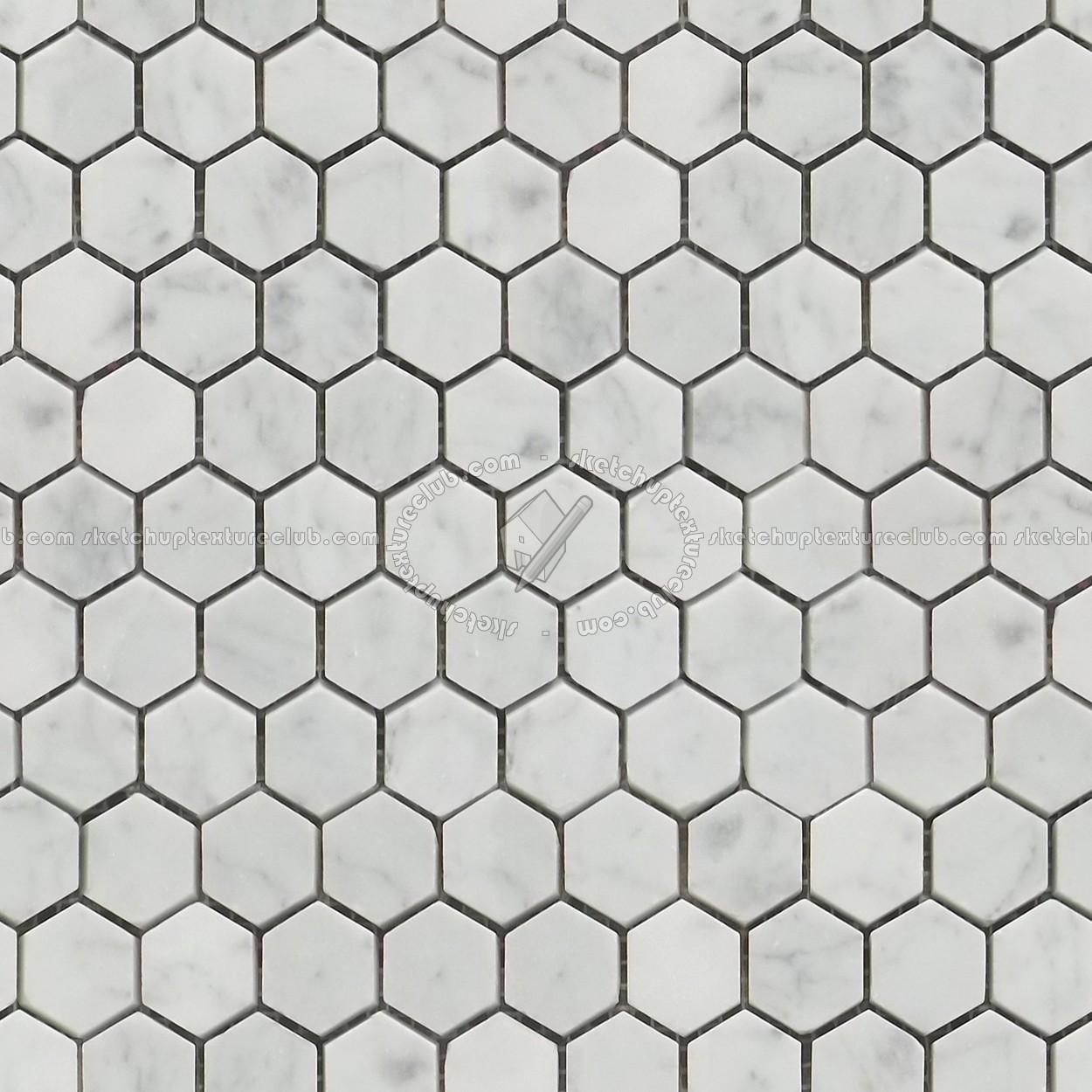 Carrara Hexagonal Marble Tile Seamless