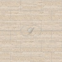 Ligth beige travertine floor tile texture seamless 14765