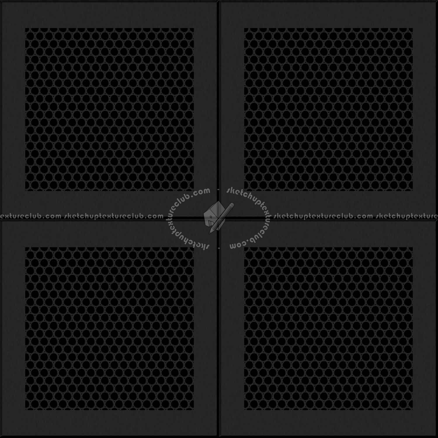 White Ceiling Perforated Metal Texture Seamless 10572