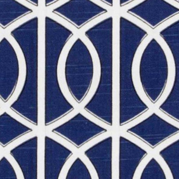 Blue Covering Fabric Geometric Printed Texture Seamless 20942