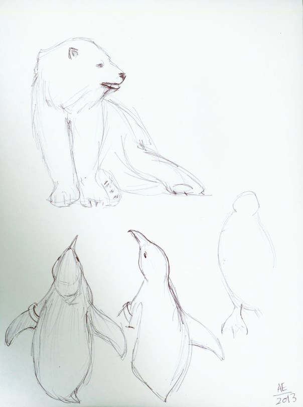 Polar Bear and Penguin Pals