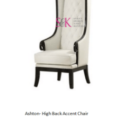 High Backed Throne Chair Small For Bedroom Luxury Wedding Event Lounge Furniture King And Queen Chairs Ashton Back Accent