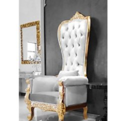 King And Queen Chairs For Rent Folding Chair Rentals Nj Luxury Wedding Event Lounge Furniture Throne Her Majesty White Gold