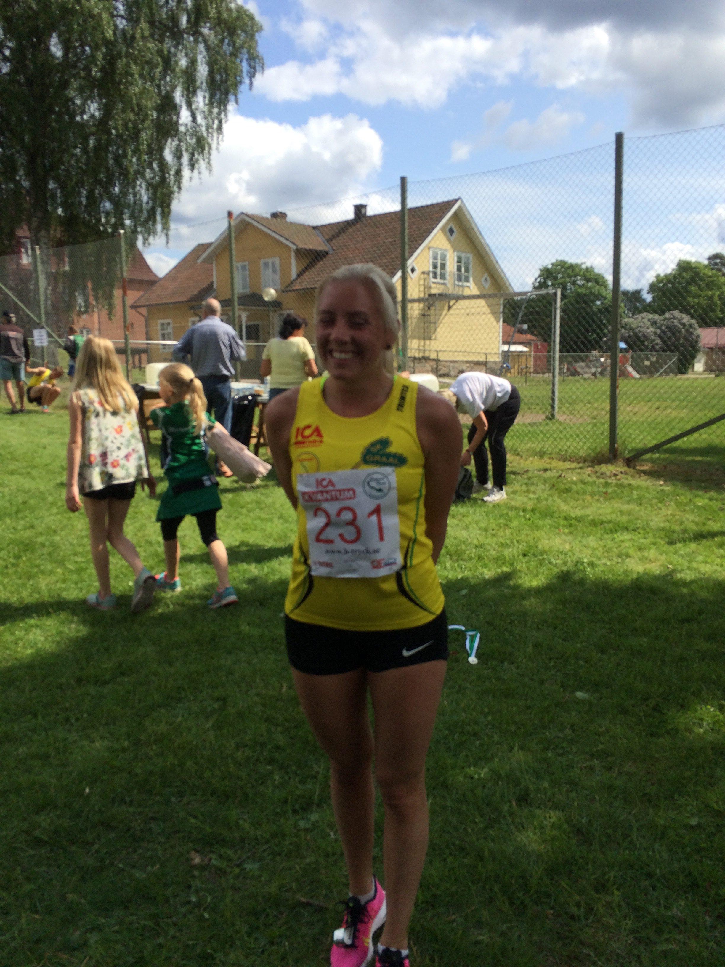 Maria, en glad vinnare av 5km!