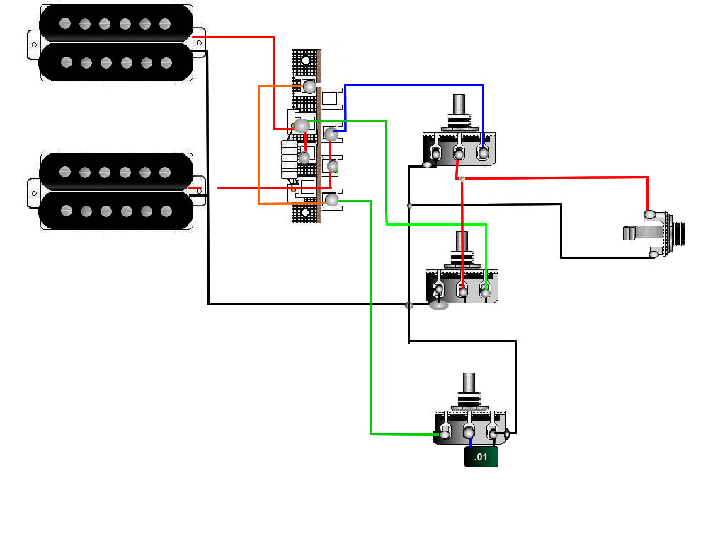Selector Switch Wiring Diagram On Emg Humbucker Wiring Diagram 3