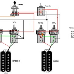 Guitar Wiring Diagrams Coil Split 1989 Sportster 1200 Diagram 2 Humbuckers For Free Engine