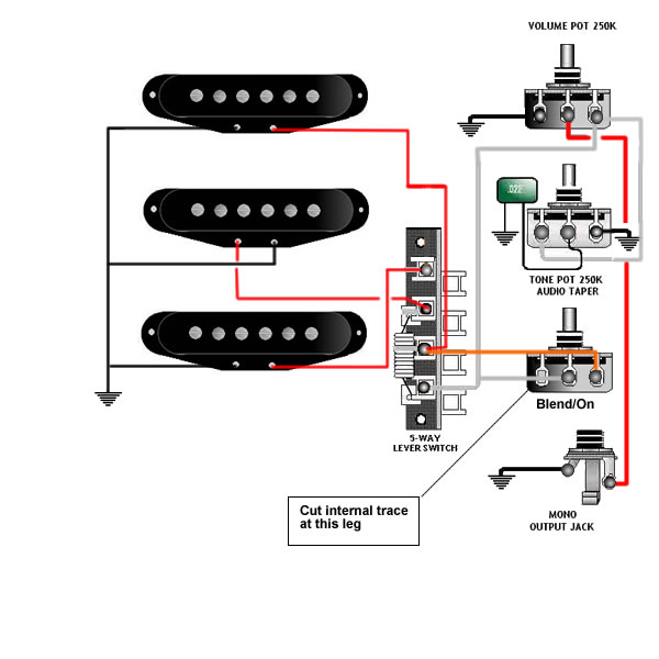 dimarzio hs3 wiring diagram 2004 volkswagen jetta stereo stratocaster great installation of guitar tips tricks schematics and links rh skguitar com evolution pickup humbucker strat