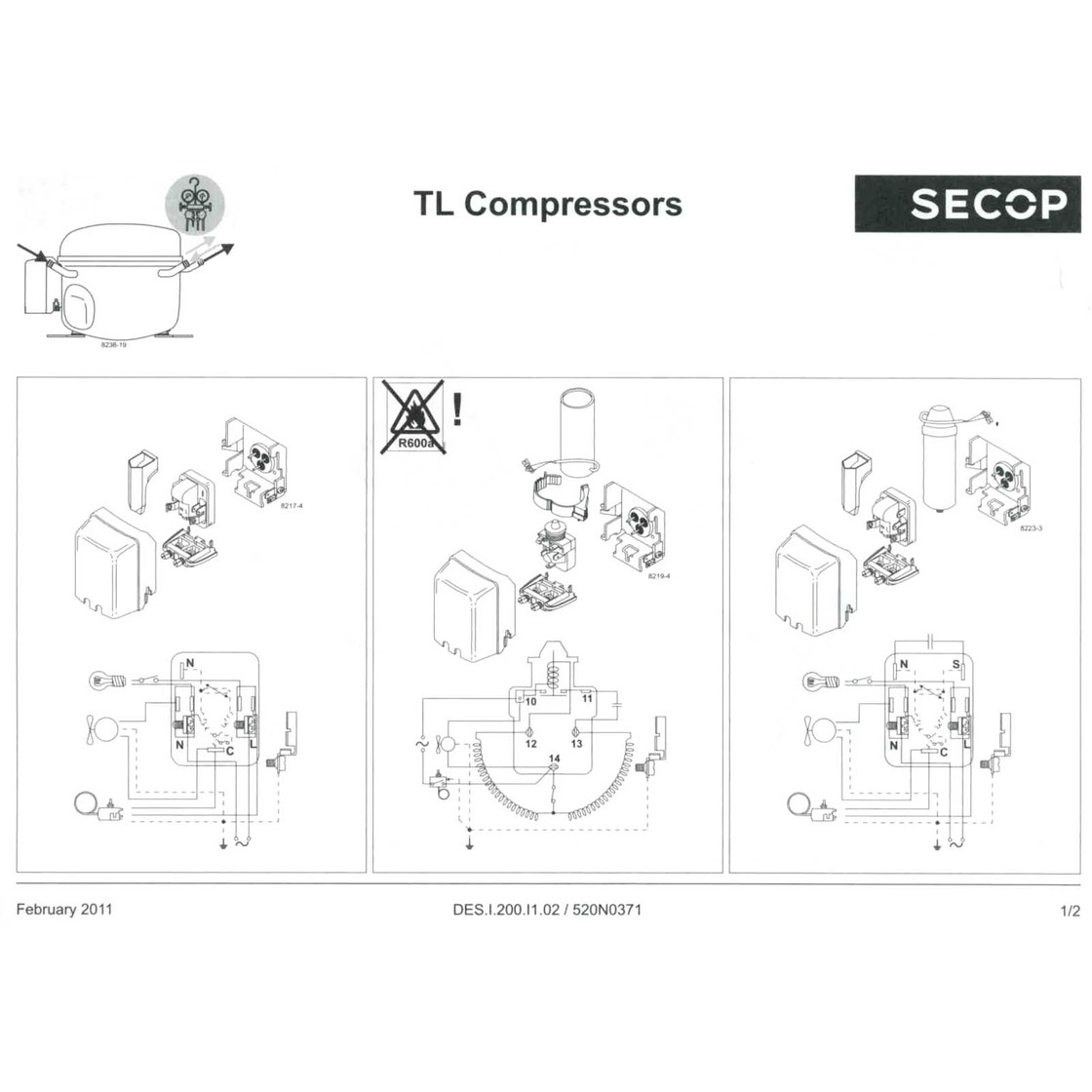 hight resolution of maneurop compressor electrical drawing