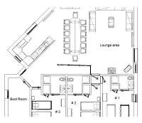 Chalet Jamais Bleu: 14 Bed Ski Chalet Floor Plan