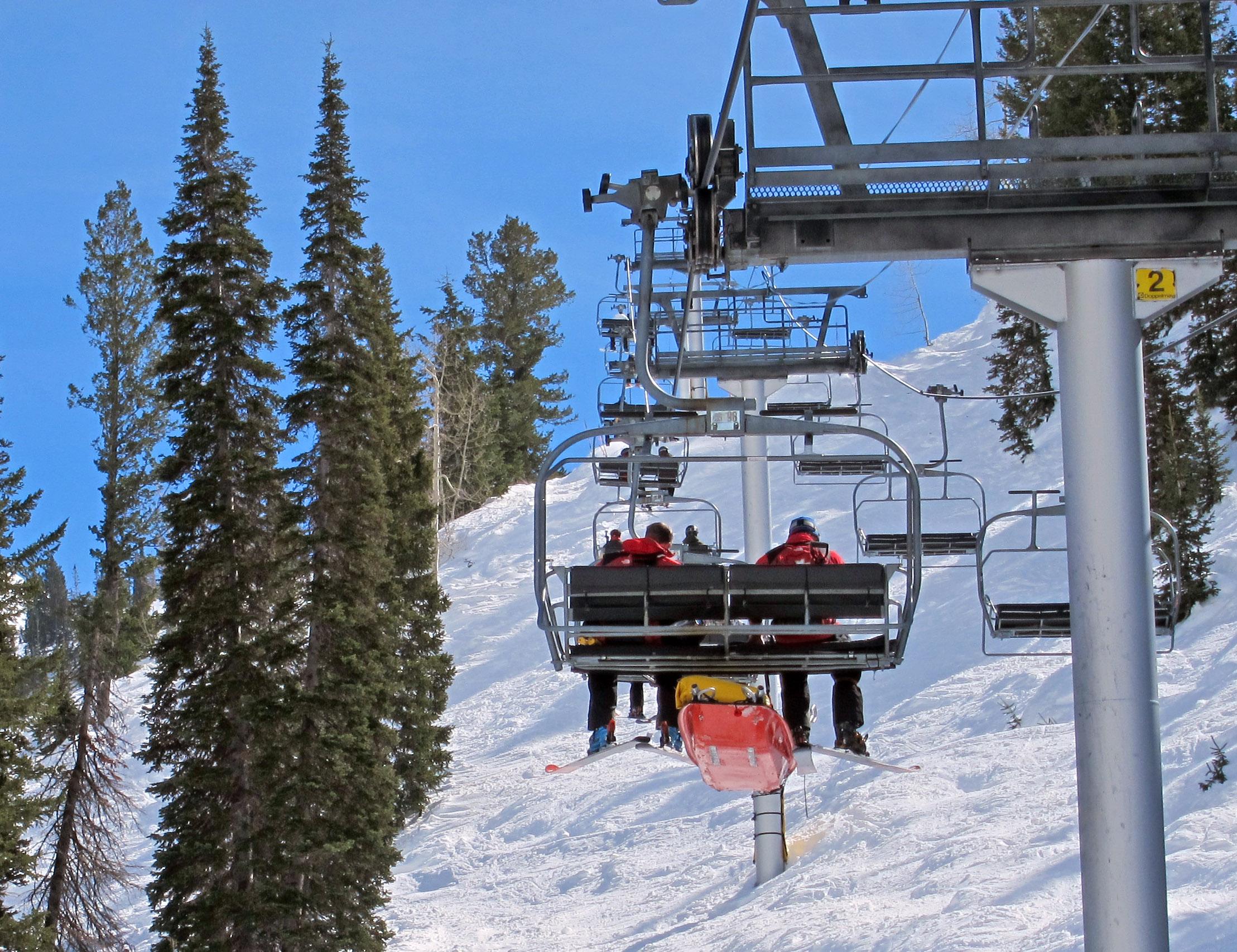 ski chair lift black spandex covers rental 2011 park city utah