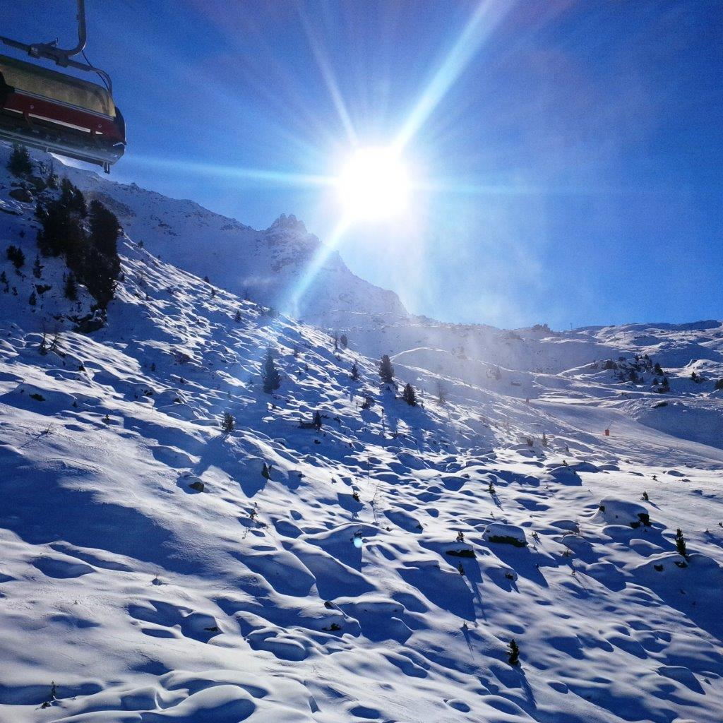 St. Moritz snow storm