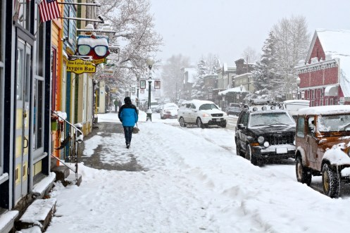 Crested Butte snow storm, Crested Butte opening day