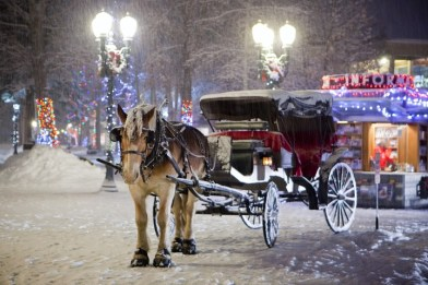 Horse-drawn carriage ride in Aspen, Aspen Christmas activities
