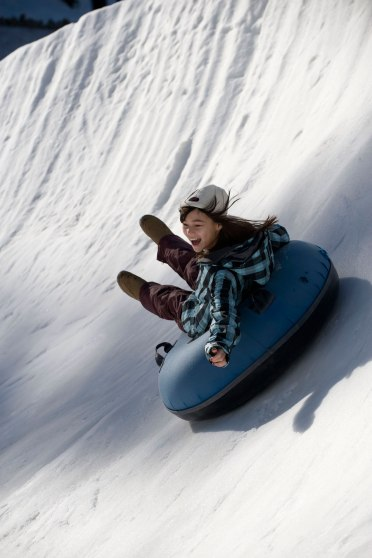 Tubing at Squaw Valley ski resort