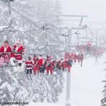 Whistler Skiing Santa