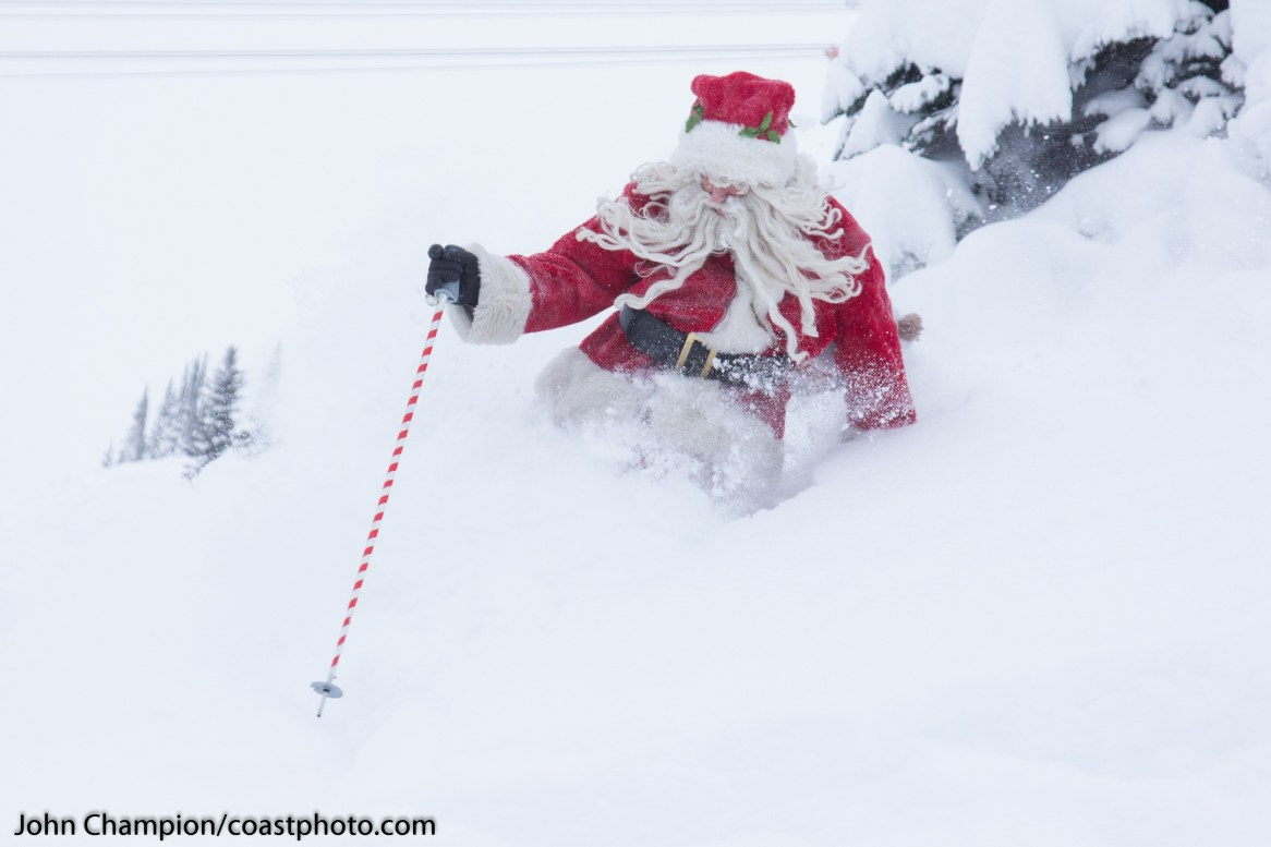Whistler Blackcomb skiing Santa