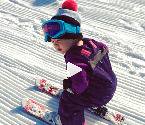 two-year-old snowboards and skis