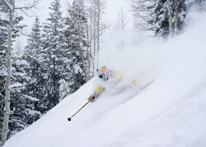 Aspen powder day