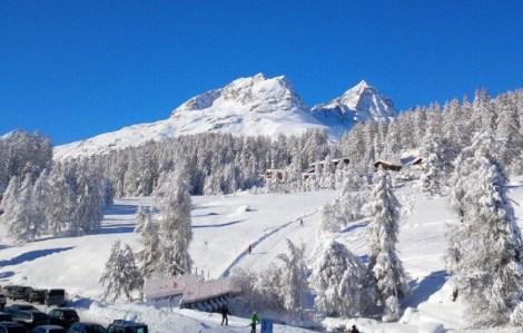 St. Moritz snow day. St. Mortiz
